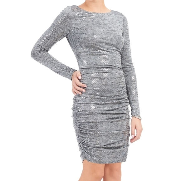 8012eee5ac NWT Vince Camuto Silver Sequin BodyCon Party Dress